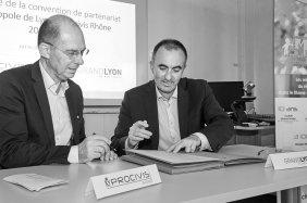 Signature de la convention avec la Métropole de Lyon
